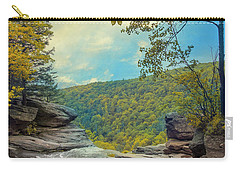 Carry-all Pouch featuring the photograph On Top Of Kaaterskill Falls by John Rivera