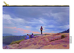 Carry-all Pouch featuring the mixed media On Top Of The World 5 by Lynda Lehmann