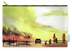 Carry-all Pouch featuring the painting On Vacation by Anil Nene