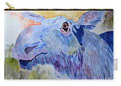 Once In A Blue Moose Carry-all Pouch by Sandy McIntire