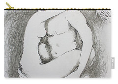 Carry-all Pouch featuring the drawing Once Lovers by Marat Essex