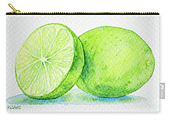 One And A Half Limes Carry-all Pouch by Rebecca Davis
