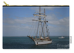 Carry-all Pouch featuring the photograph Approaching Kingscote Jetty by Stephen Mitchell