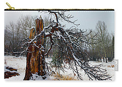 Carry-all Pouch featuring the photograph One Branch Left by Shane Bechler