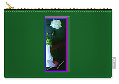 One Carnation And One Rose Bud Carry-all Pouch