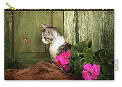 One Cute Kitten Waiting At The Door Carry-all Pouch