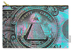 Carry-all Pouch featuring the digital art One-dollar-bill - $1 - Reverse Side by Jean luc Comperat