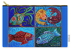 One Fish Two Fish Carry-all Pouch by Sarah Loft