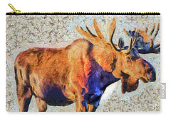 Carry-all Pouch featuring the painting One Handsome Moose by Elaine Ossipov