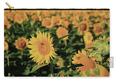 Carry-all Pouch featuring the photograph One In A Million Sunflowers by Chris Berry