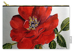 One Lone Wild Rose Carry-all Pouch