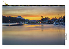 Carry-all Pouch featuring the photograph One Morning In Gig Harbor by Ken Stanback