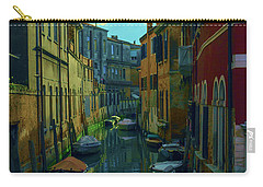 one of the many Venetian canals at the end of a Sunny summer day Carry-all Pouch