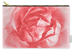 One Perfect Rose Carry-all Pouch by Iryna Goodall