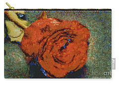 One Red Rose Carry-all Pouch by Shirley Stalter