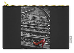 Carry-all Pouch featuring the photograph One Red Shoe by Patrice Zinck