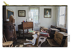 Carry-all Pouch featuring the photograph One Room Schoolhouse by Ann Bridges