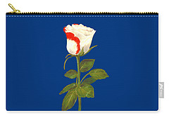 Carry-all Pouch featuring the pastel One Rose by Anastasiya Malakhova