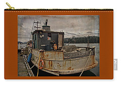 Carry-all Pouch featuring the photograph One Salty Dog by Thom Zehrfeld