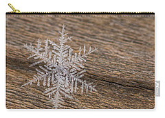 Carry-all Pouch featuring the photograph One Snowflake by Ana V Ramirez