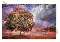 Carry-all Pouch featuring the photograph One Tree In The Meadow by Debra and Dave Vanderlaan