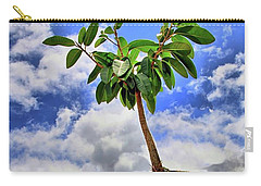 Carry-all Pouch featuring the photograph One Tree One Post by DJ Florek