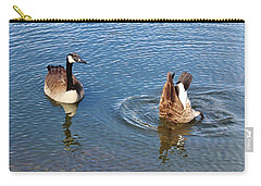 One Up One Down Carry-all Pouch by Cynthia Guinn