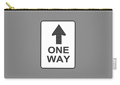 One Way T-shirt Carry-all Pouch
