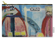 Carry-all Pouch featuring the painting One Way To 7th Street by Susan Stone