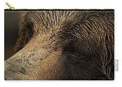 Carry-all Pouch featuring the photograph One Who Sees - Grizzly Bear Art by Jordan Blackstone