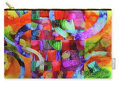 Carry-all Pouch featuring the mixed media Ones Who Flew Away by Kate Word