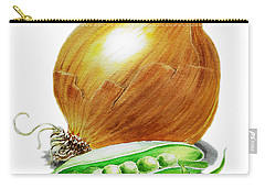 Onion And Peas Carry-all Pouch by Irina Sztukowski
