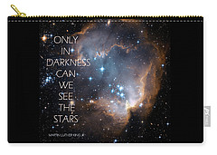 Carry-all Pouch featuring the digital art Only In Darkness by Lora Serra