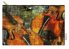 Only Music Heals A Broken Heart Carry-all Pouch by LemonArt Photography