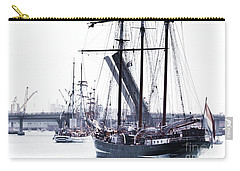 Carry-all Pouch featuring the photograph Oosterschelde Leaving Port by Stephen Mitchell