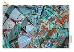 Op Art Windows Double Exposure Carry-all Pouch by Marianne Campolongo