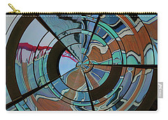 Carry-all Pouch featuring the photograph Op Art Windows Orb by Marianne Campolongo