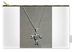 Carry-all Pouch featuring the photograph Opal Cross by Marie Neder