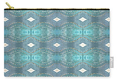 Carry-all Pouch featuring the digital art Opalescent Wave Design by Ellen Barron O'Reilly