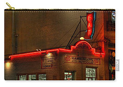 Open All Nite-texas Tavern Carry-all Pouch by Dan Stone