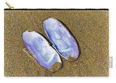Carry-all Pouch featuring the photograph Open Clam Shell by Adria Trail