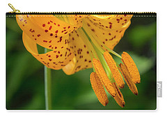 Carry-all Pouch featuring the photograph Open Tiger Lily by Jean Noren