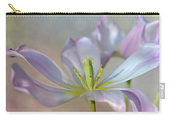 Carry-all Pouch featuring the photograph Open Tulip by Ann Bridges