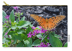 Open Wings Of The Gulf Fritillary Butterfly Carry-all Pouch