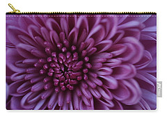 Carry-all Pouch featuring the photograph Purple Mum by Glenn Gordon