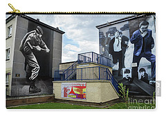 Carry-all Pouch featuring the photograph Operation Motorman Mural In Derry by RicardMN Photography