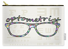 Carry-all Pouch featuring the digital art Optometrist by Anastasiya Malakhova