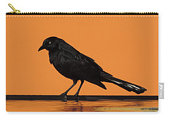 Orange And Black Bird Carry-all Pouch