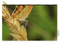 Orange And Black Butterfly Carry-all Pouch by Henri Irizarri