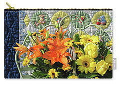 Carry-all Pouch featuring the photograph Orange And Yellow Delights by Nancy Lee Moran